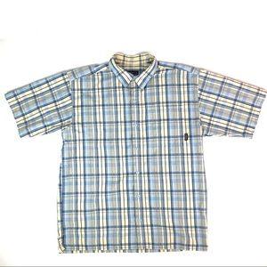 Patagonia Blue Plaid Sleeve Burton Down Shirt